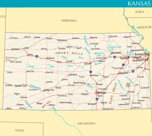 United States Map Kansas City Images